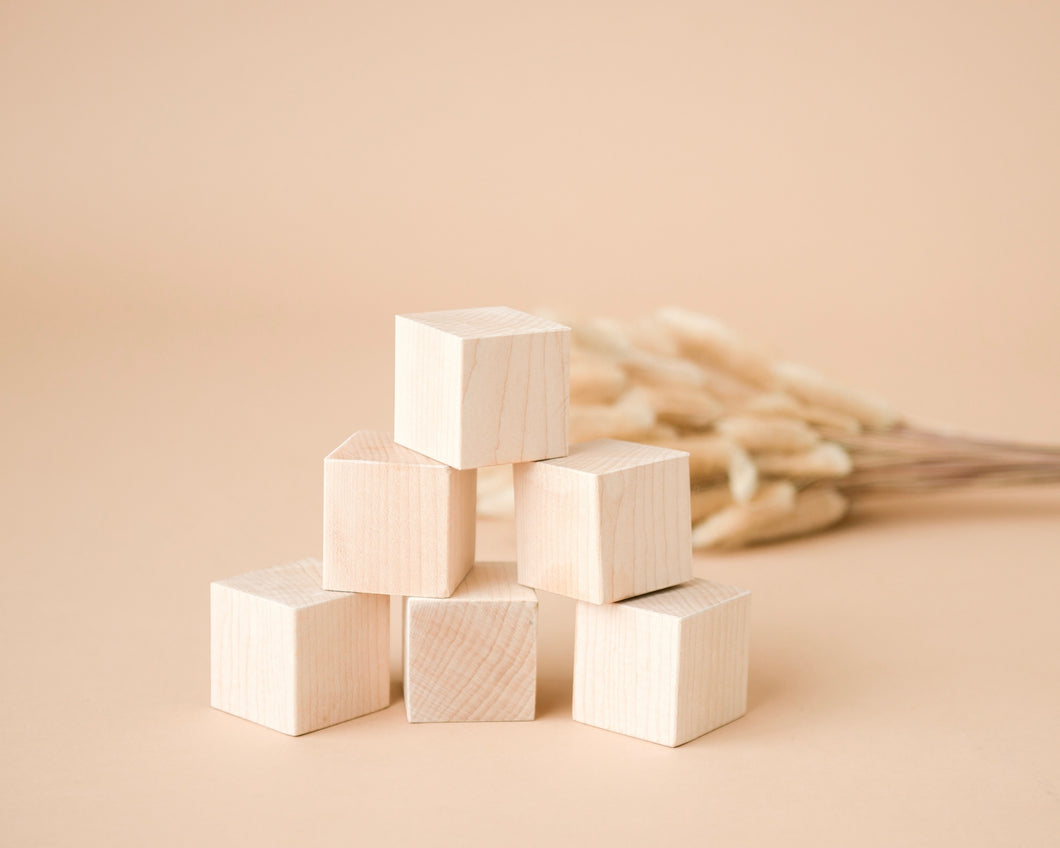 Learn n' Grow Organic Maple Wood Stacking Blocks