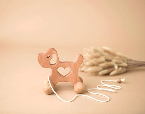 Wooden Dog Pulley