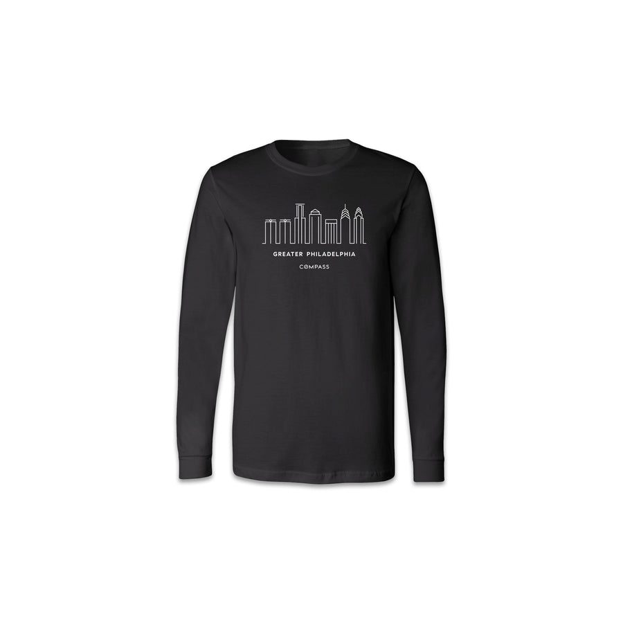 Philly Skyline Long Sleeve Tee