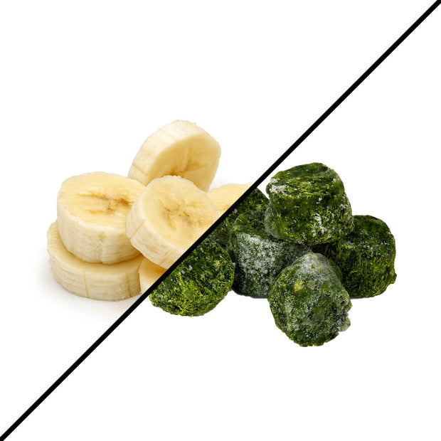 Frozen Produce - Banana + Spinach (2 x 1kg)