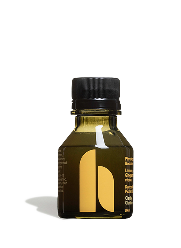 A tune-up for your body's digestive system, combining bioavailable fermented dandelion root, known to support the liver and the digestive tract and organic ginger, lemon, and apple juice, and apple cider vinegar.