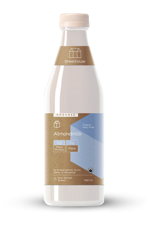 clean label almond milk beverage nuts protein creamy
