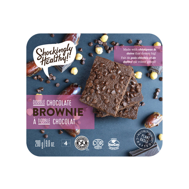 Shockingly Healthy Double Chocolate Brownies