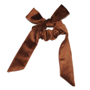 Brown Velvet Bow