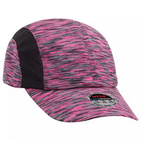 6 Panel Running Hat Polyester Jersey Knit