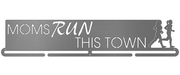 Moms Run This Town - 2 runners - negative letters