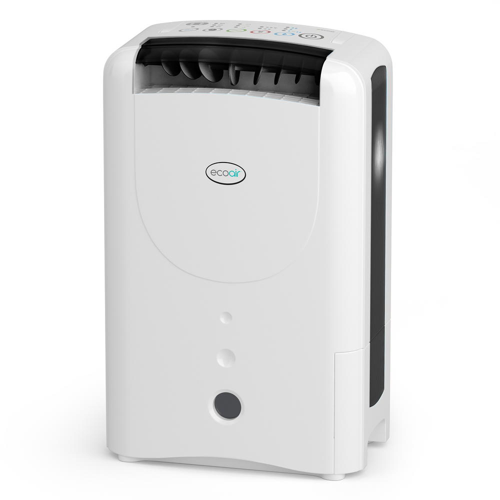 EcoAir DD1 CLASSIC MK5 Desiccant Dehumidifier with Ioniser and nano silver filter 7L per day - Black