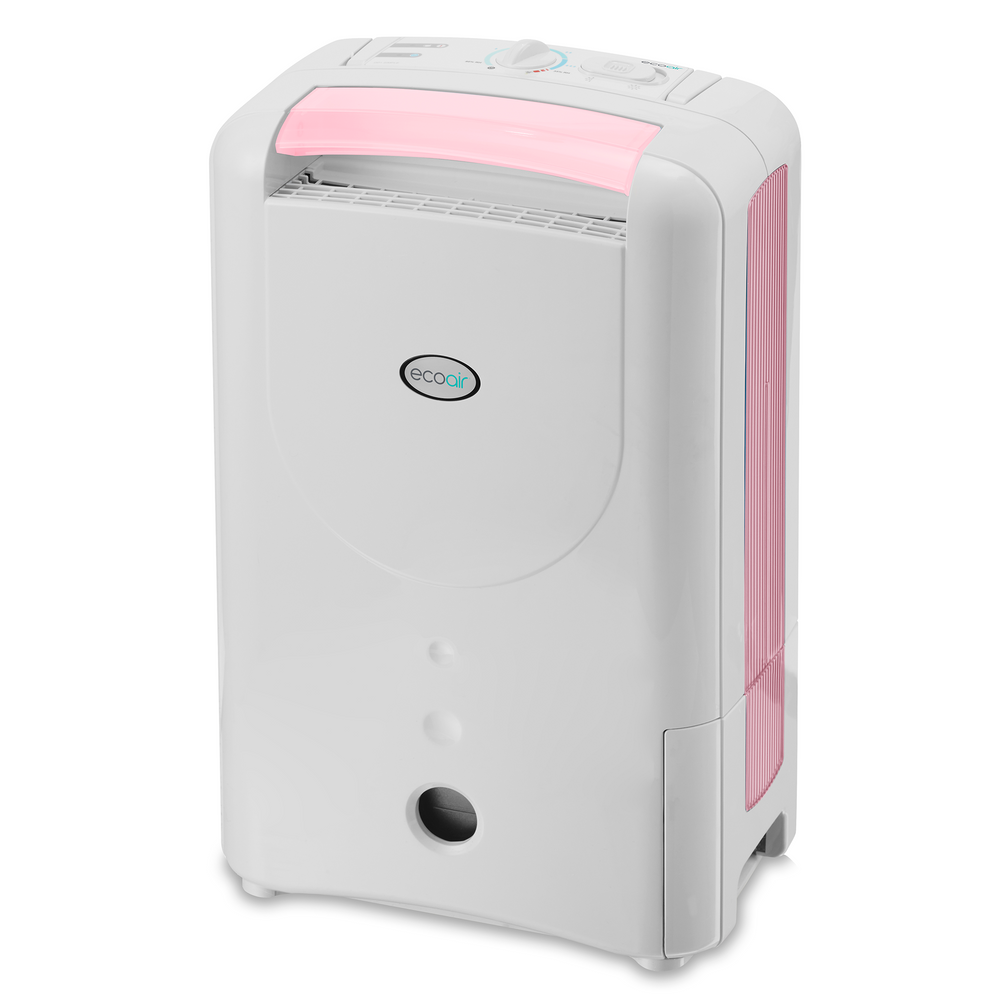 EcoAir DD1 SIMPLE Desiccant Dehumidifier with Nano Silver Filter 7L per day - Pink