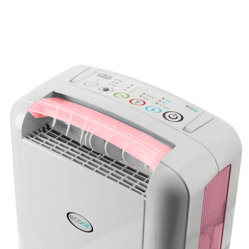 EcoAir DD1 CLASSIC MK5 Desiccant Dehumidifier with Ioniser and nano silver filter 7L per day - Pink