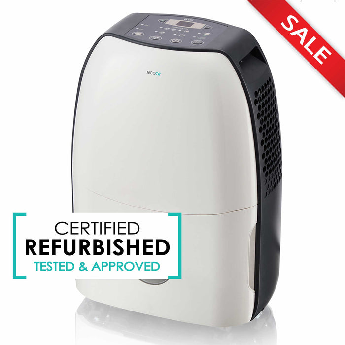 EcoAir DC12 Compact Portable Dehumidifier 12L per day - Certified Refurbished - Like New