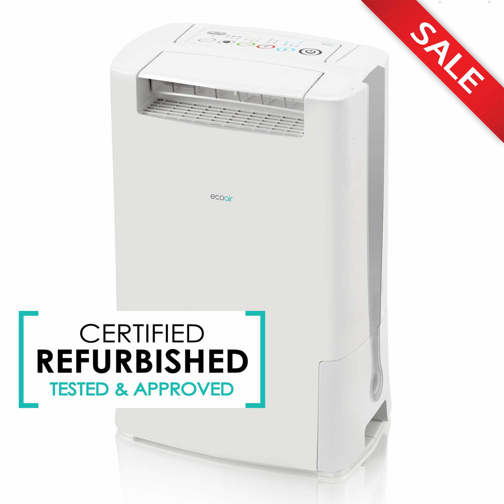 EcoAir DD128 Desiccant Dehumidifier with Ioniser and Silver Filter, 8L - Grey - Certified Refurbished