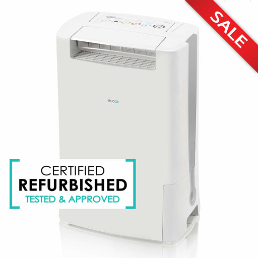 EcoAir DD128 Desiccant Dehumidifier with Ioniser and IonPure Filter 8L per day - Grey - Certified Refurbished - Good