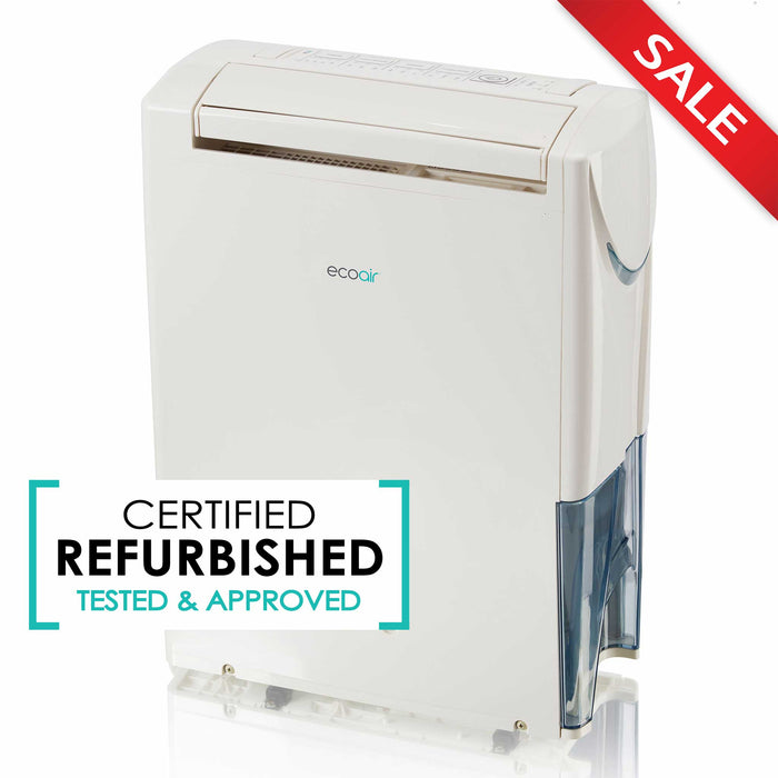 EcoAir DC202 Hybrid Dehumidifier/Air Purifier 20L per day - Certified Refurbished - Good