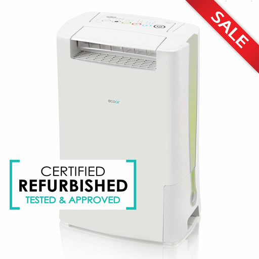 EcoAir DD128 Desiccant Dehumidifier with Ioniser and IonPure Filter 8L per day - Green - Certified Refurbished - Like New