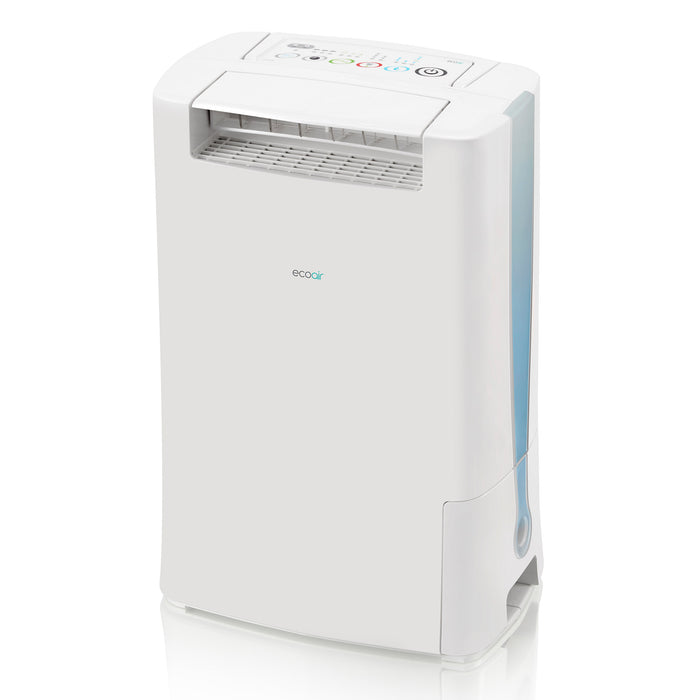 EcoAir DD128 Desiccant Dehumidifier with Ioniser and Silver Filter, 8L - Blue
