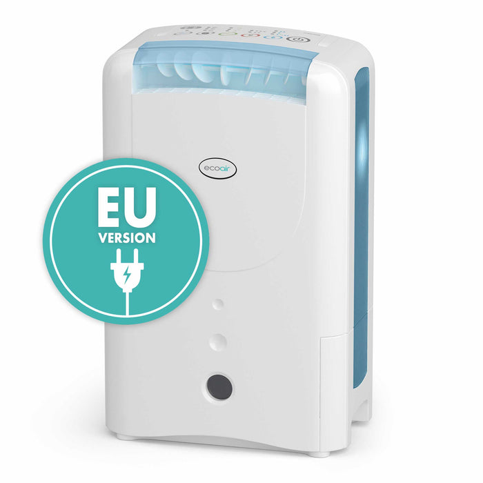 EcoAir DD1 CLASSIC EE Desiccant Dehumidifier with Ioniser and nano silver filter 7L per day - Blue (EU VERSION)