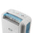 EcoAir DD1 CLASSIC MK5 Desiccant Dehumidifier with Ioniser and Silver Filter, 7L - Blue (EU VERSION)