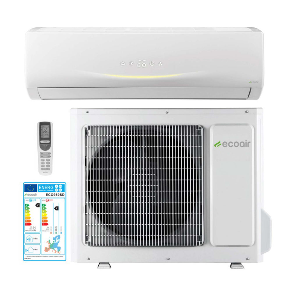 Heat Pump Inverter Air Conditioning 9000BTU 2.6 kW (ECO950SD)