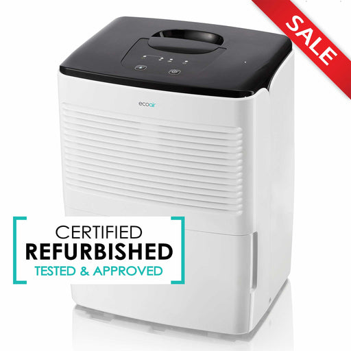 Save 20% - EcoAir Essential Compact Portable Dehumidifier, 12L - Certified Refurbished