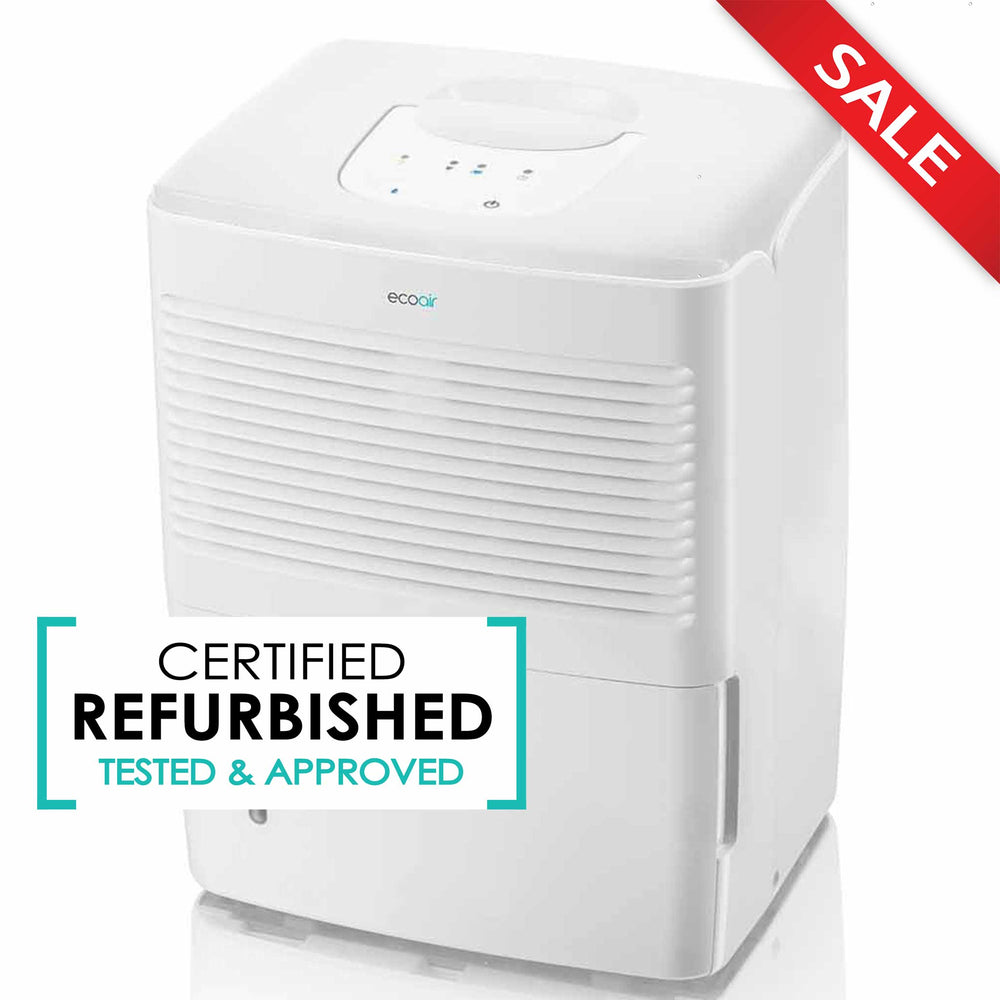 EcoAir Vebo Compact Portable Dehumidifier 12L per day - Certified Refurbished - Good
