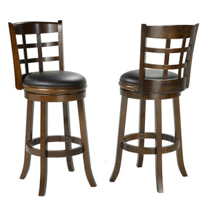 "Candace & Basil Furniture |  Isabella 29"" Swivel Bar Stools (Set of 2)"