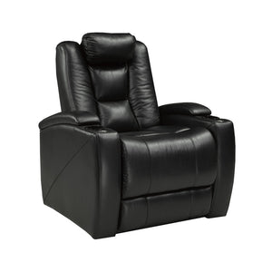 Candace & Basil Furniture |  Leather Power Recliner with Coolers