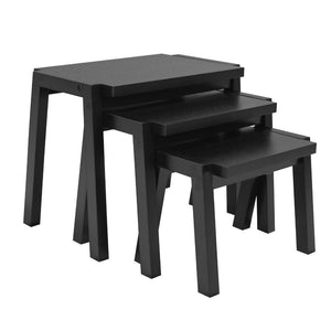 Candace & Basil Furniture |  Set of 3 Nesting Tables (Black)