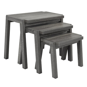 Candace & Basil Furniture |  Set of 3 Nesting Tables (Grey)
