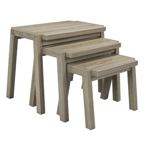 Candace & Basil Furniture |  Set of 3 Nesting Tables (Taupe)