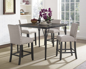 Candace & Basil Furniture |  Arianna 5pc Pub Set - Beige