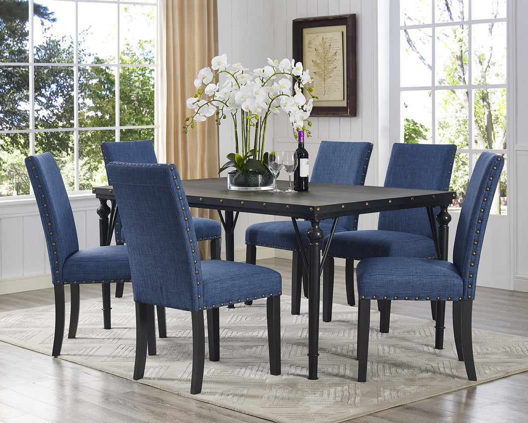 Candace & Basil Furniture |  Arianna 7pc Dining Set - Blue