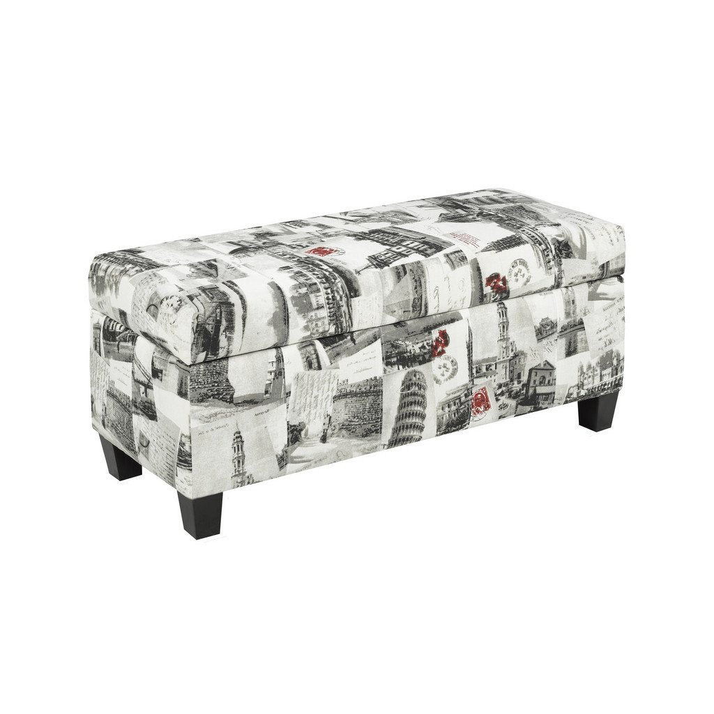 Candace & Basil Furniture |  Zara Bench w. Storage (City Print)