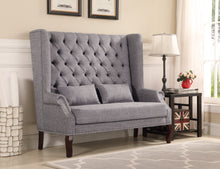 Load image into Gallery viewer, Hallway Loveseat/Bench - Grey Linen