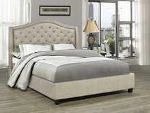 Load image into Gallery viewer, Candace & Basil Furniture |  Venice Platform Queen Bed Frame - Beige Linen
