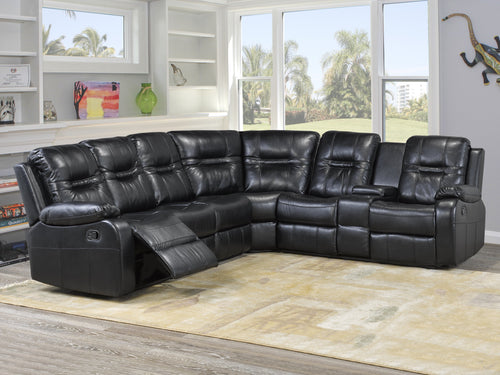 Candace & Basil Furniture |  Napolean Sectional - Black