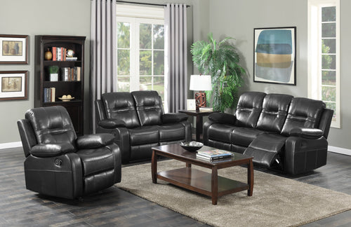 Candace & Basil Furniture |  Napolean Recliner Series - Black