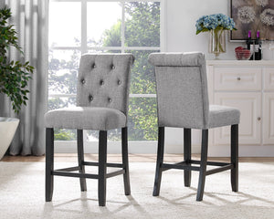 "Candace & Basil Furniture |  Tinga 24"" Counter Stools (Set of 2) - Grey"