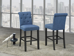 "Candace & Basil Furniture |  Tinga 29"" Bar Stools (Set of 2) - Blue"