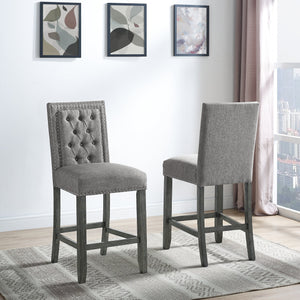 Brooklyn Counter Stools (Set of 2) - Light Grey