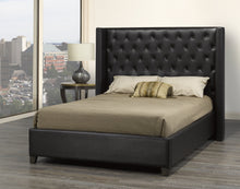 Load image into Gallery viewer, Santana King Platform Bed - Brown Faux Leather