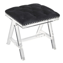Load image into Gallery viewer, Acrylic Ottoman - Black