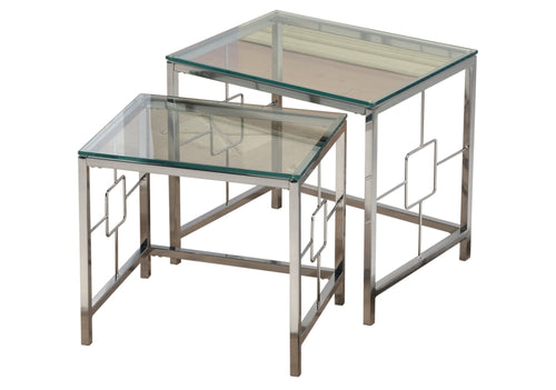 Candace & Basil Furniture |  2Pc Nesting Tables - Chrome