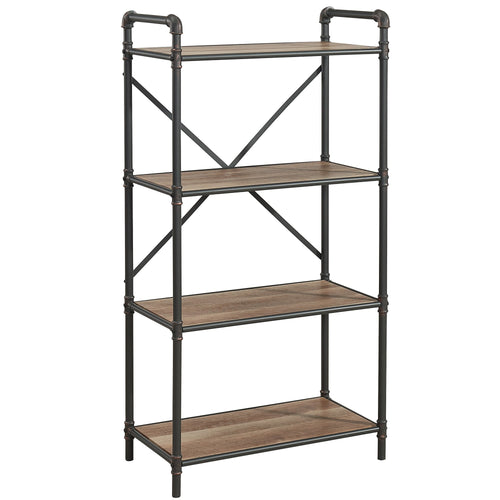 Candace & Basil Furniture |  4 Tier Shelf - Antique Black