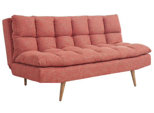 Candace & Basil Furniture |  Futon - Split Back Click Clack / Red Linen