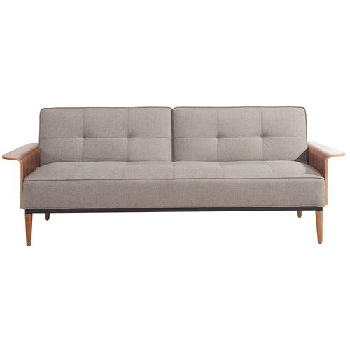 Candace & Basil Furniture |  Futon - Split Back Click Clack / Grey Linen