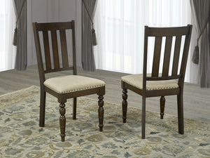 "Claudia 7PC Dining Set w/ 18"" Leaf"
