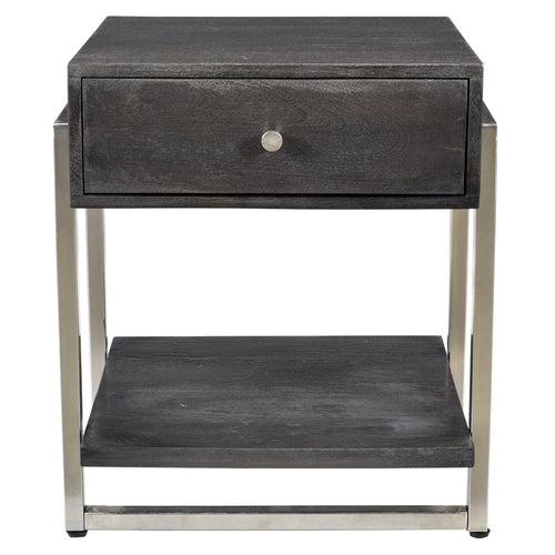 Candace & Basil Furniture |  Accent Table - Dark Grey