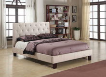 Load image into Gallery viewer, Candace & Basil Furniture |  Robinson Platform Queen Bed Frame - Beige Linen
