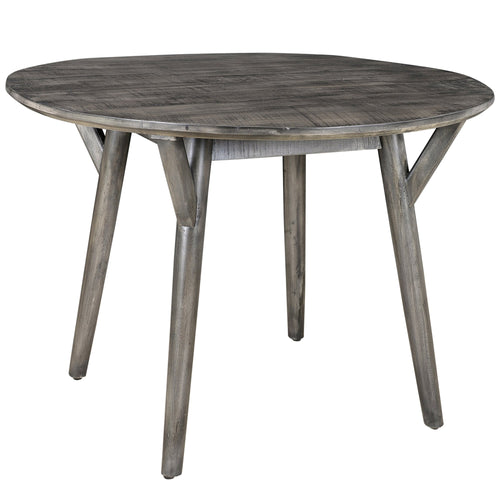 Candace & Basil Furniture |  Rnd. Dining Table - Distressed Grey