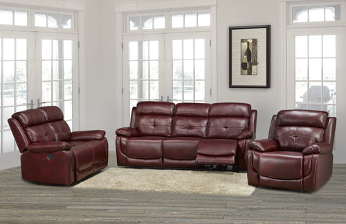 Candace & Basil Furniture |  Phoenix Power Recliner Series - Wine